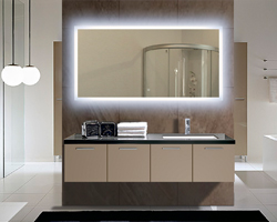 Bathroom Mirror Backlit backlit bathroom vanity mirrors - home